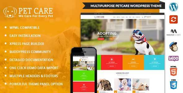 Petcare wordpress multipurpose theme by kodeforest for Wordpress rss feed template
