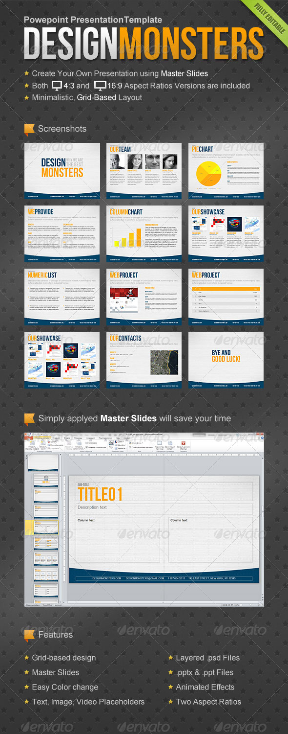GraphicRiver DesignMonsters Powerpoint Presentation Template 1468712