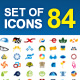 84 Icons  - GraphicRiver Item for Sale