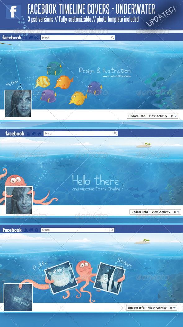 GraphicRiver 3 Facebook Timeline Covers Underwater World 1524033