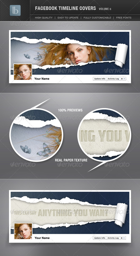 GraphicRiver Facebook Timeline Cover Volume 6 1530095