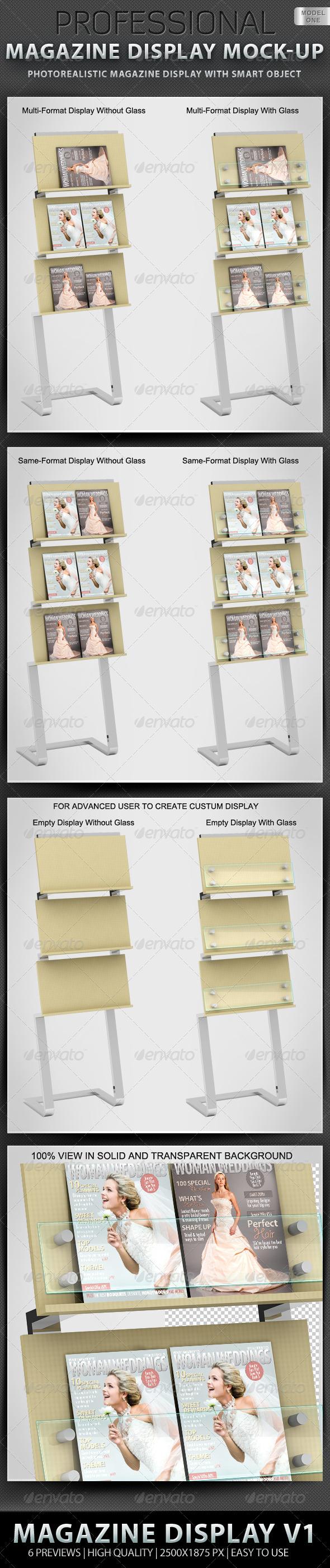 GraphicRiver Professional Magazine Display Mock-up V1 1398733