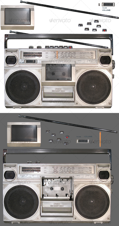 GraphicRiver Stereo Radio Cassette Recorder 60993