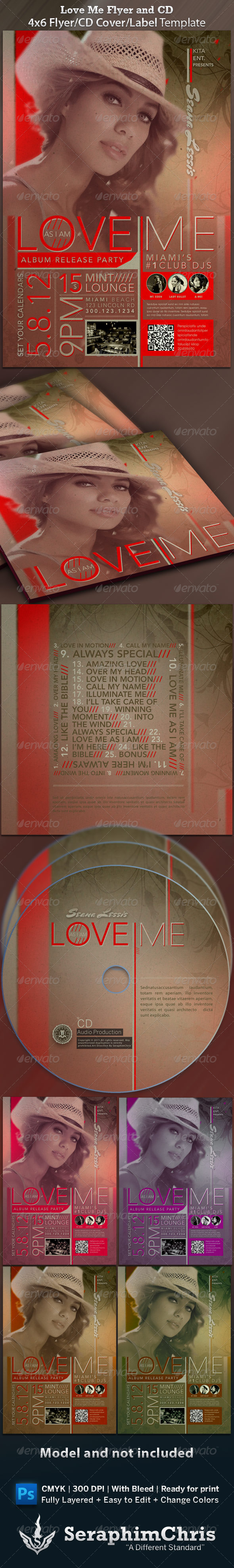 GraphicRiver Love Me CD Cover and Flyer Template 1545746