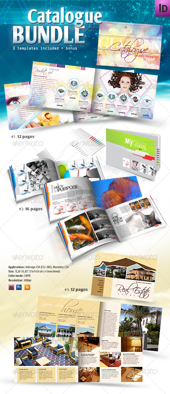 Graphic River Product Catalogue Bundle Print Templates -  Brochures  Catalogs 1546017
