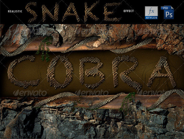Graphic River Realistic Cobra style Add-ons -  Photoshop 1548040