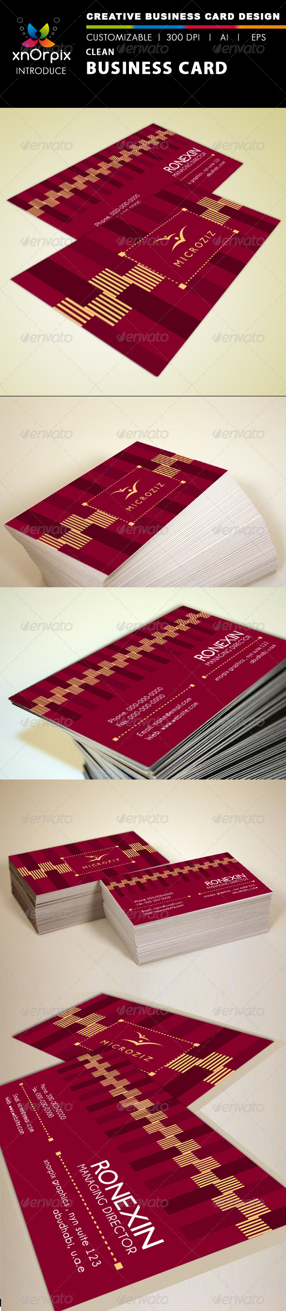 GraphicRiver Clean Business Card 1540696