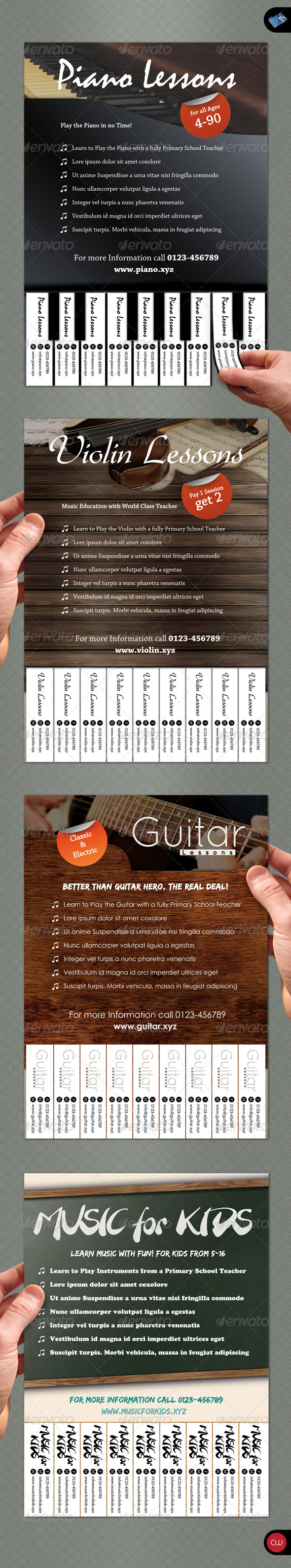 GraphicRiver Tear-Off Flyer Vol.1 Music 1550145