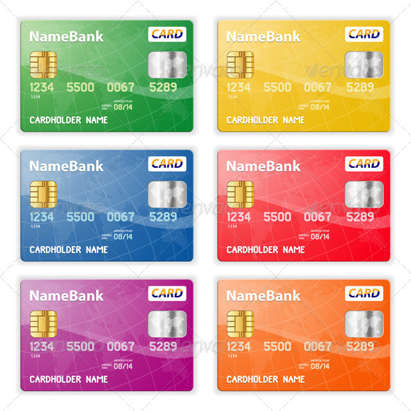Graphic River Set of Credit Cards Vectors -  Conceptual  Business  Concepts 1555226