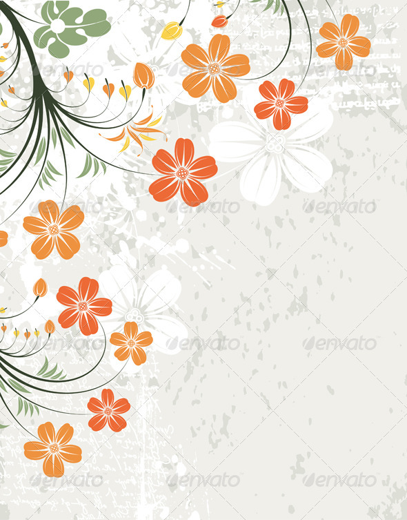 Graphic River Floral Frame Vectors -  Decorative  Backgrounds 1555341