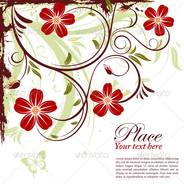 Graphic River Floral Frame Vectors -  Decorative  Borders 1555350