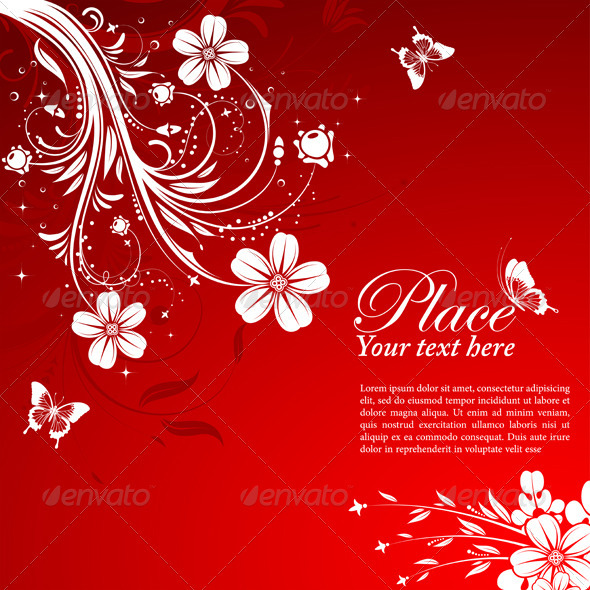 Graphic River Floral background Vectors -  Decorative  Borders 1555413