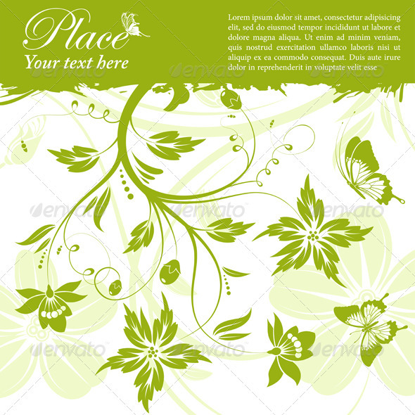 Graphic River Floral Frame Vectors -  Decorative  Borders 1555416