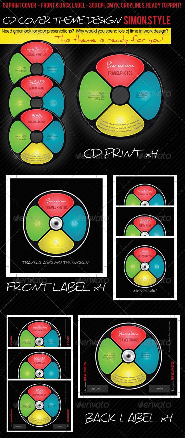 GraphicRiver CD Cover Theme Design Simon Style 1556192