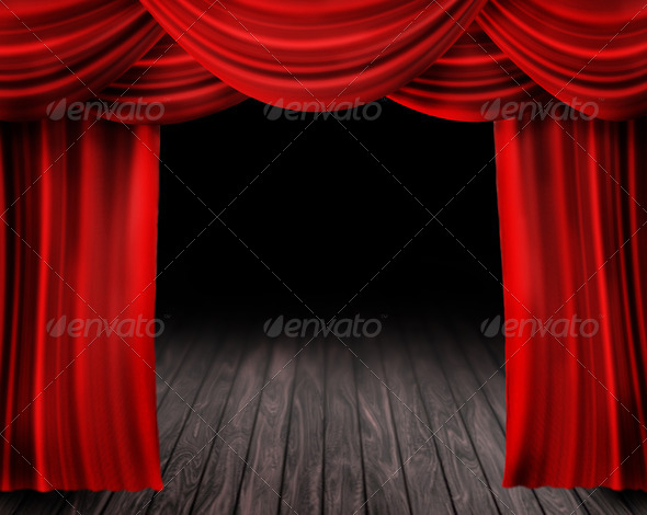 cartoon red curtains wallpaper - photo #13