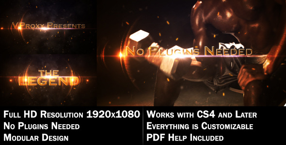 VideoHive The Legend Cinematic 1557572