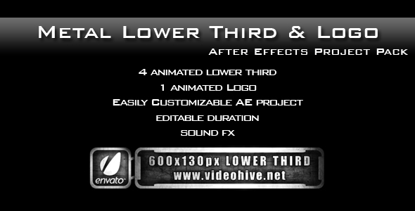 After Effects Project - VideoHive Metal Lower Third & Logo AE Project PACK  ...