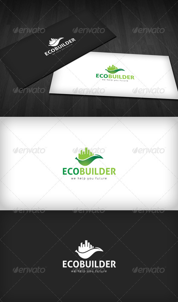 Graphic River Eco Builder Logo Logo Templates -  Buildings 1557945