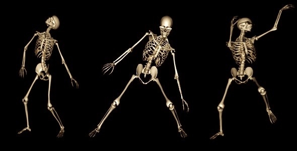 VideoHive Skeleton Funny Dance 1558243