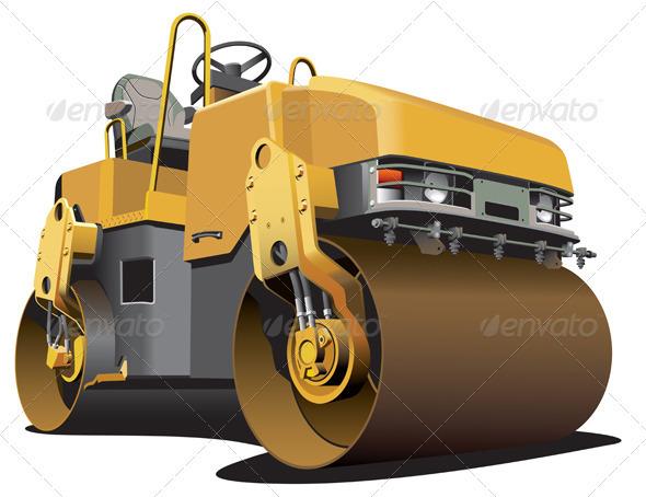 GraphicRiver Small Road Roller 1560917