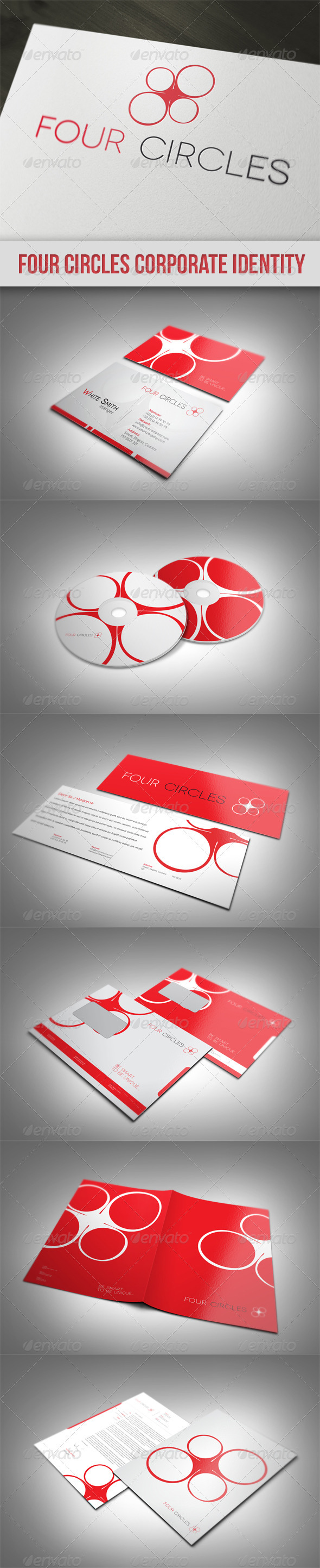 Graphic River Four Circles Corporate Identity Print Templates -  Stationery 1564478