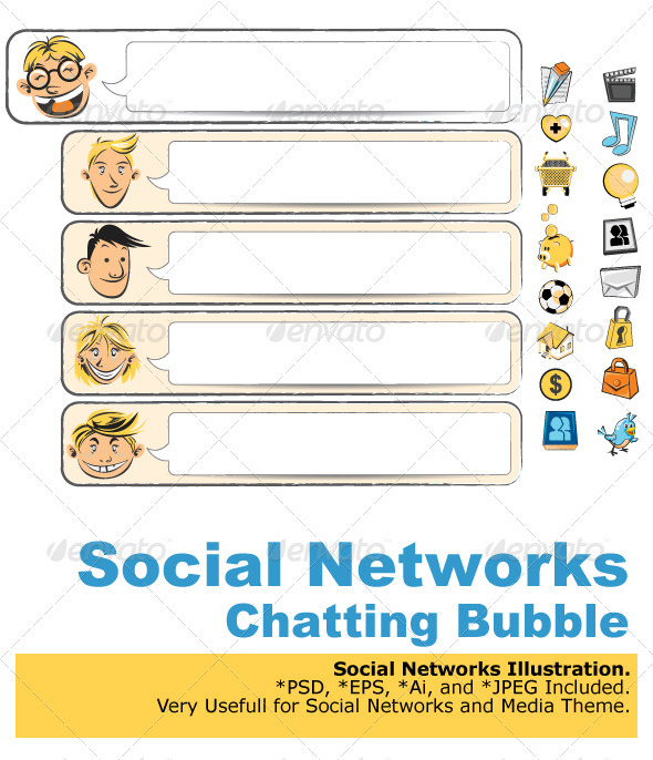 GraphicRiver Social Networks Bubble Chat 1564777