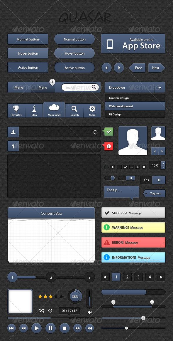 GraphicRiver Quasar UI Kit 1565456