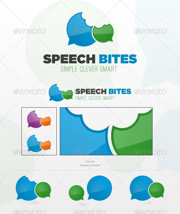 GraphicRiver Speech Bites Logo Template 1567409
