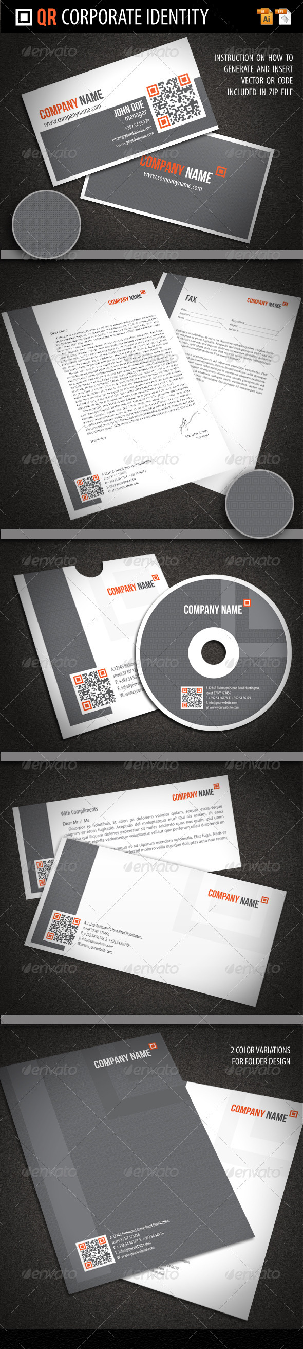 GraphicRiver QR Corporate Identity 1567501