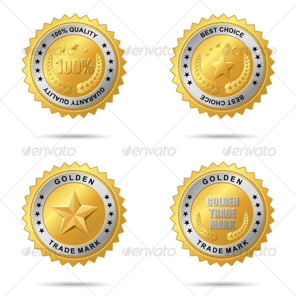 GraphicRiver Set of best choice golden labels 61657