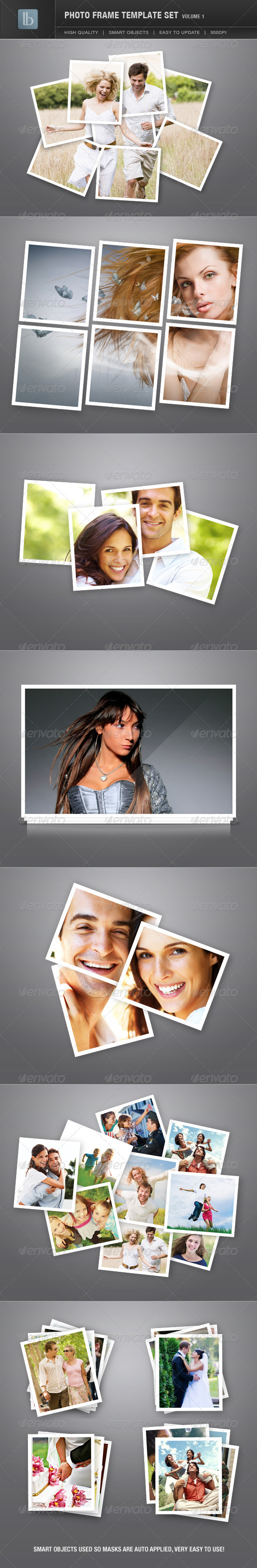 GraphicRiver Photo Frame Template Set Vol 1 1462781