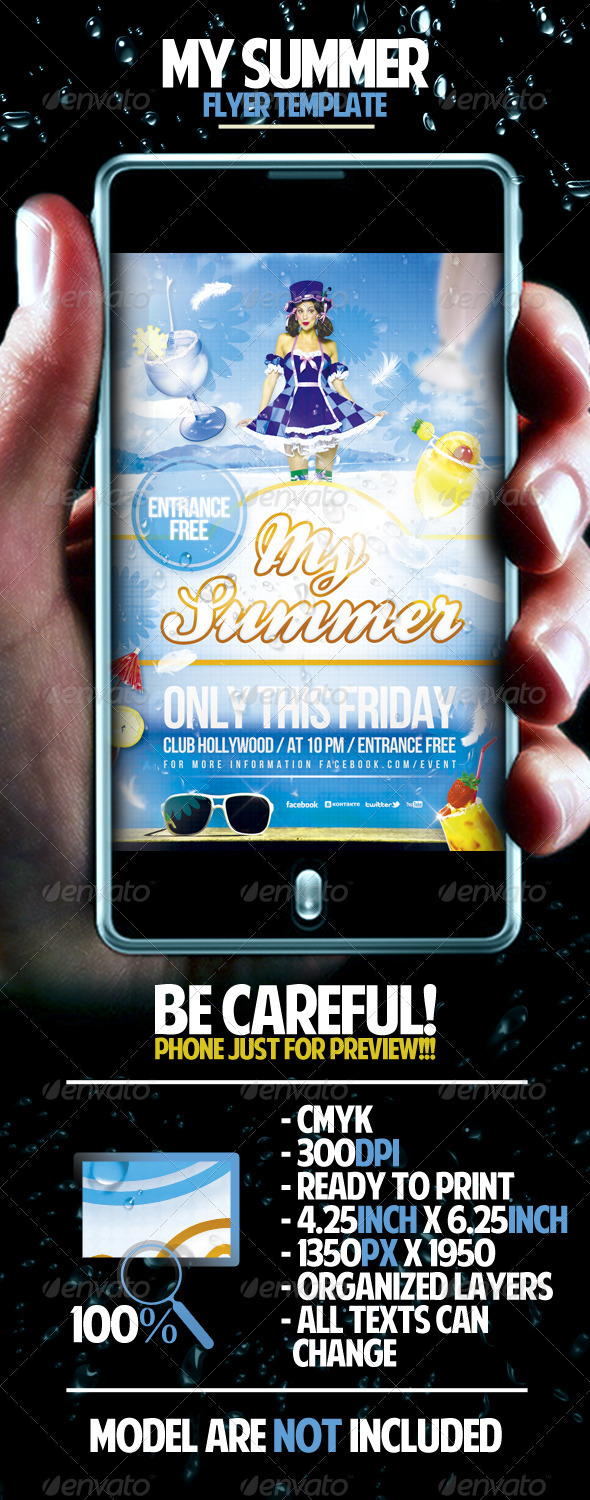 GraphicRiver My Summer Flyer Template 1569001