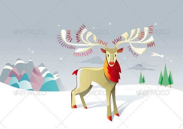 GraphicRiver Christmas Reindeer 1569056