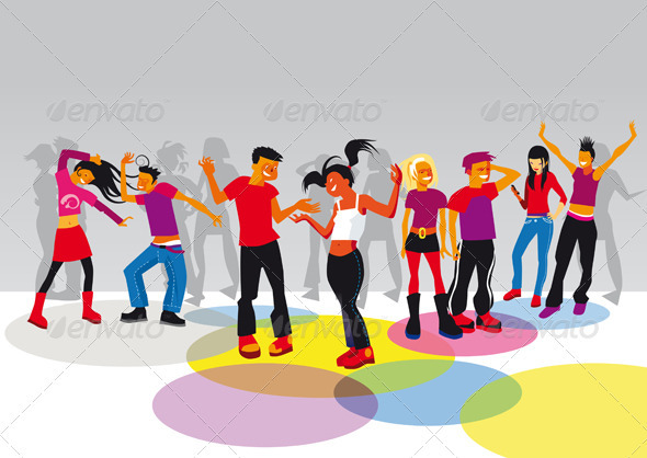 GraphicRiver Teenagers Dancing 1569379