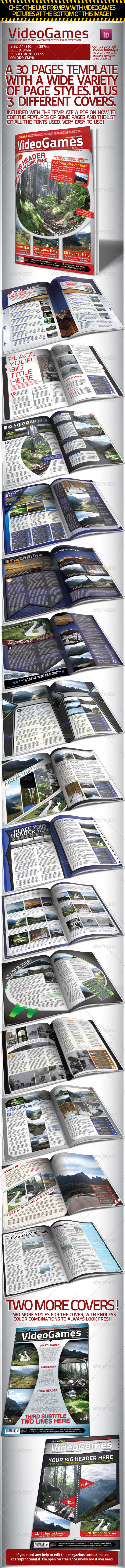GraphicRiver Videogames Magazine Template with 3 Covers 1528979