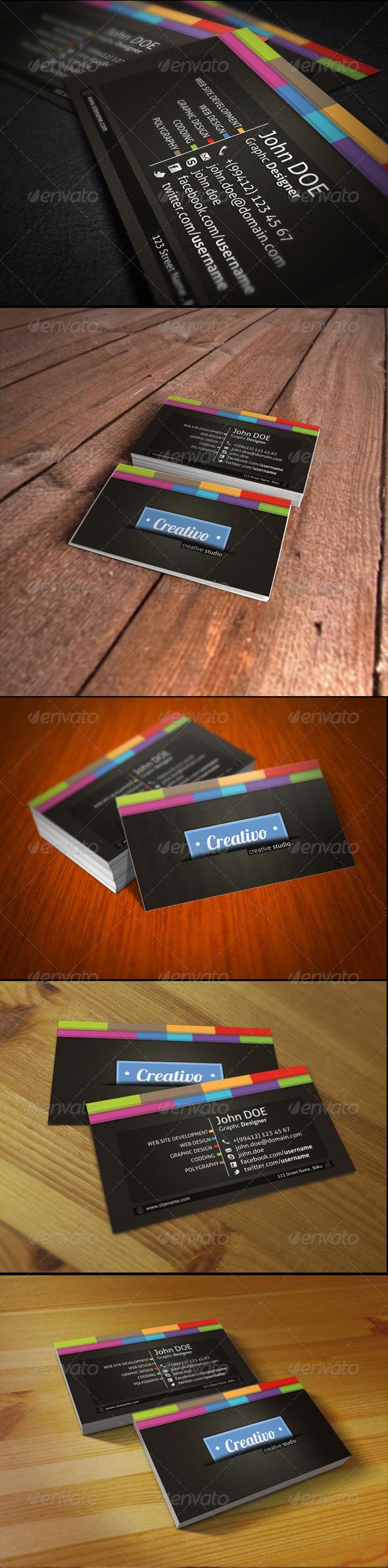 GraphicRiver Creativo Business Card 1570959