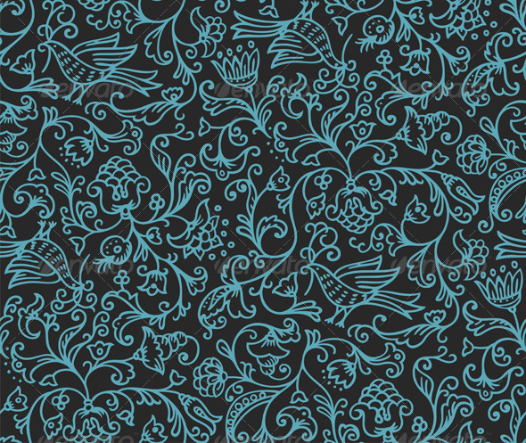 GraphicRiver Seamless Floral Pattern 1554169