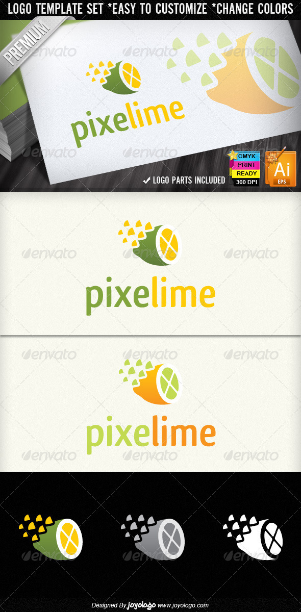 GraphicRiver Pixel Lime Creative Stuido Lemon Logo Designs 1571995