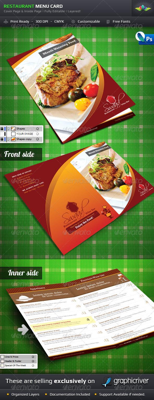 GraphicRiver Restaurant Menu Card 223241