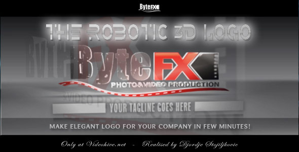 VideoHive The Robotic 3D Logo 1575221