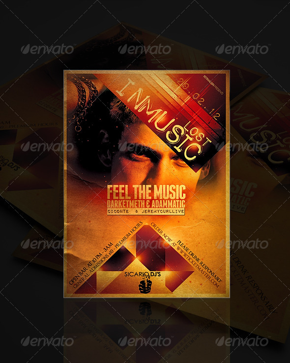 GraphicRiver Lost In Music Flyer Template 1578317