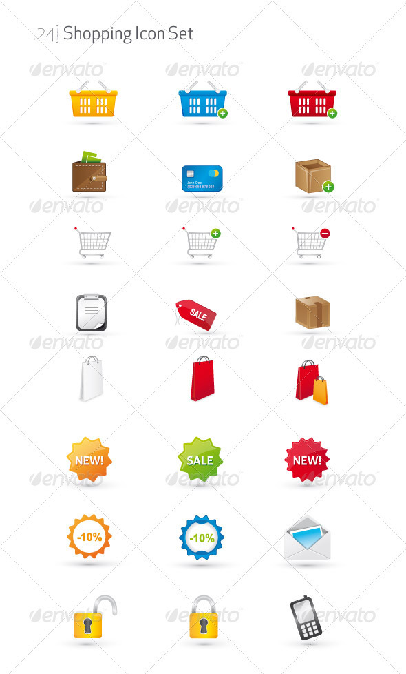 GraphicRiver Shopping Icon Set 1579162