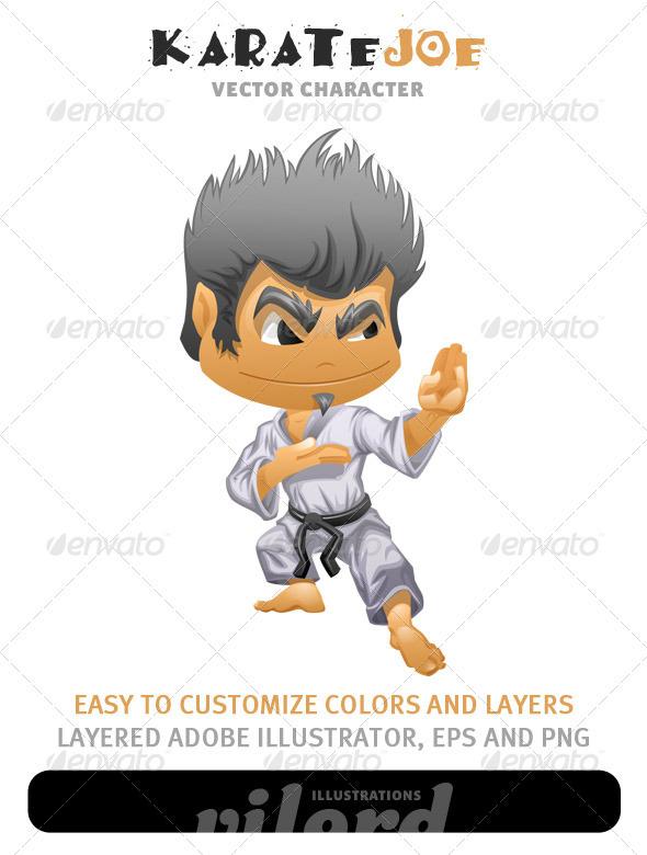 GraphicRiver Karate Boy Mascot 1579164