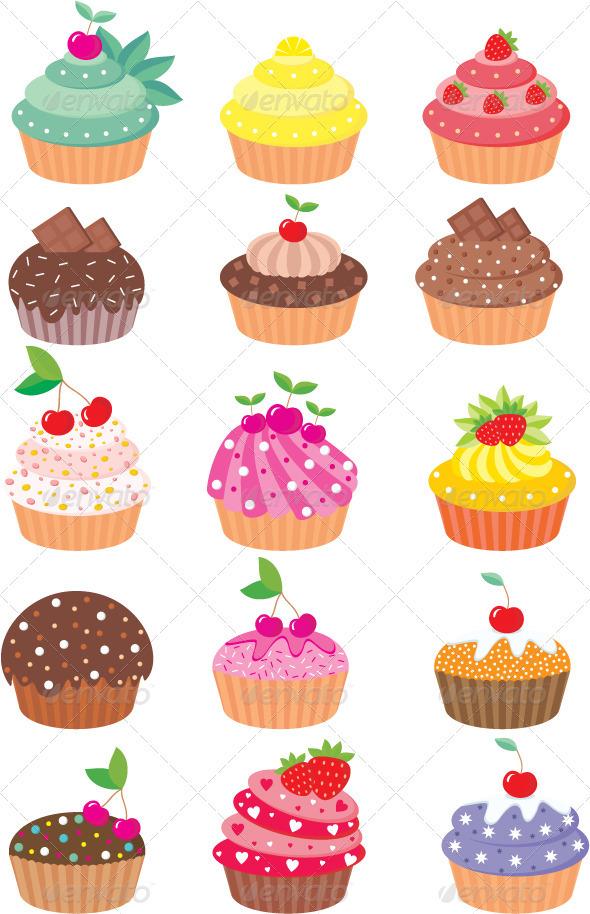 GraphicRiver Cupcakes 1580400