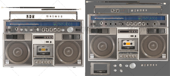GraphicRiver Radio Cassette Recorder 2 62035
