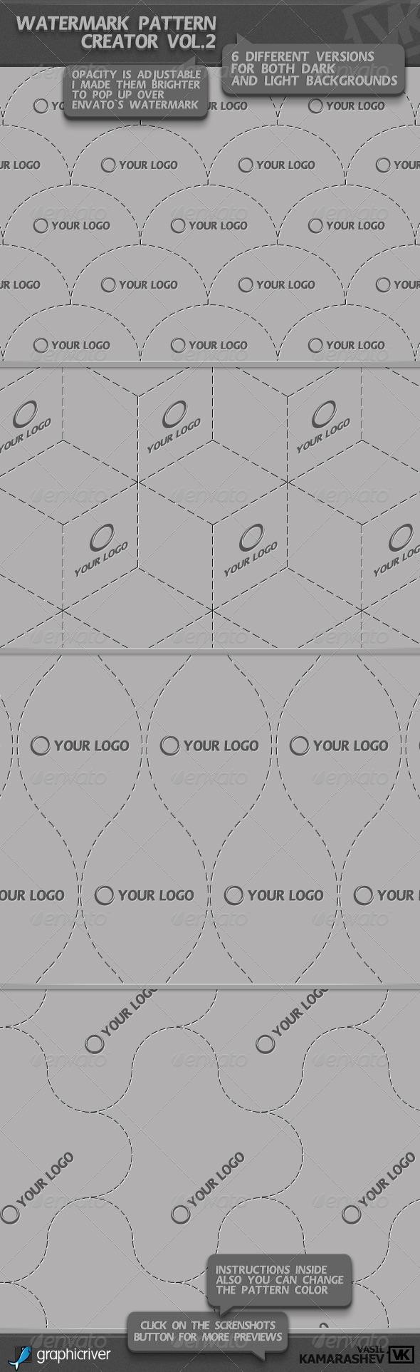 GraphicRiver Watermark Pattern Creator vol.2 1581166