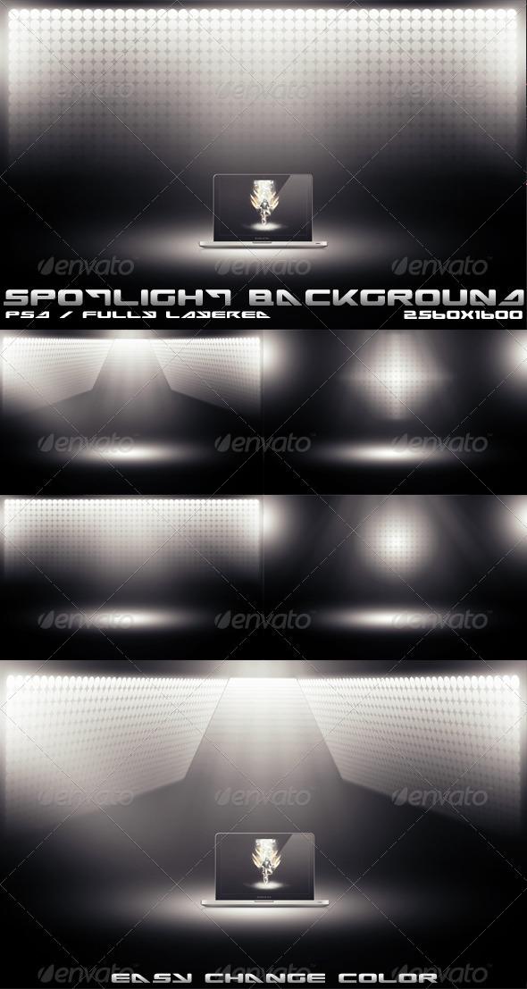 GraphicRiver Spotlight Backgrounds 1581458