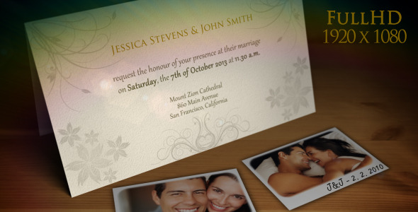 VideoHive Wedding Invitation Wedding Announcement 1581651