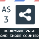 AS3 Auto-Share Bookmark Page With Share Counter - ActiveDen Item for Sale