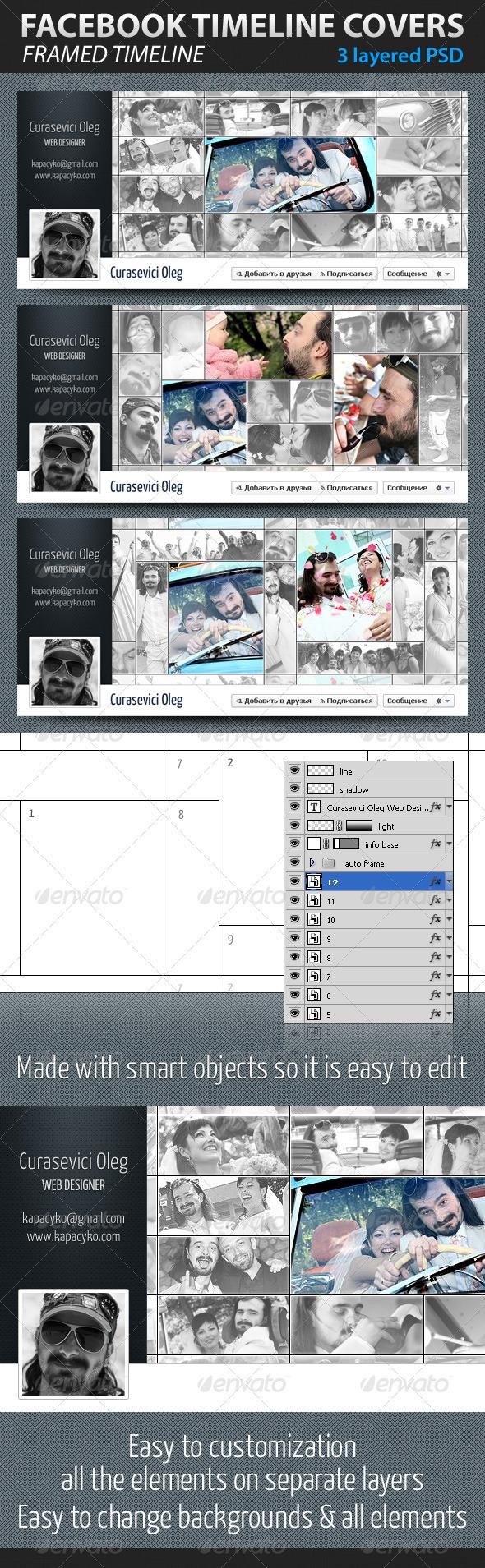 GraphicRiver Framed Facebook Timeline Covers 1582011